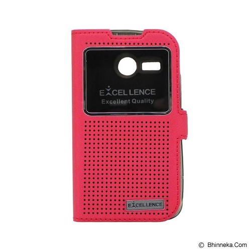 EXCELLENCE Flip Cover Firefly for Lenovo A316 [ALCLNA31FFVE07] - Red - Casing Handphone / Case