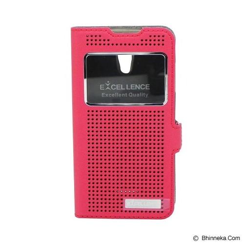 EXCELLENCE Flip Cover Firefly for Oppo Joy R1001 [ALCOPPJOFFVE07] - Red - Casing Handphone / Case