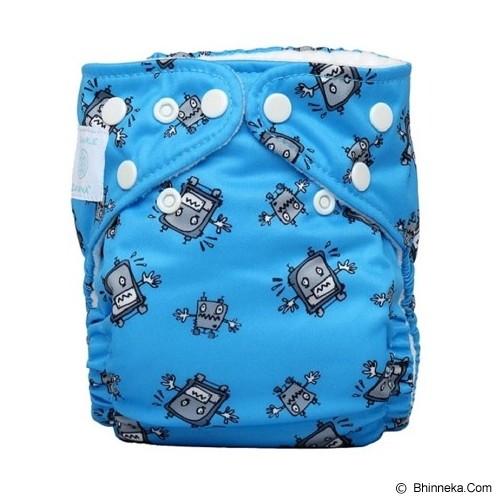 CHARLIE BANANA Diapers 2 Insert Robot Boy One Siza in Bellywrap - Cloth Diapers / Popok Kain