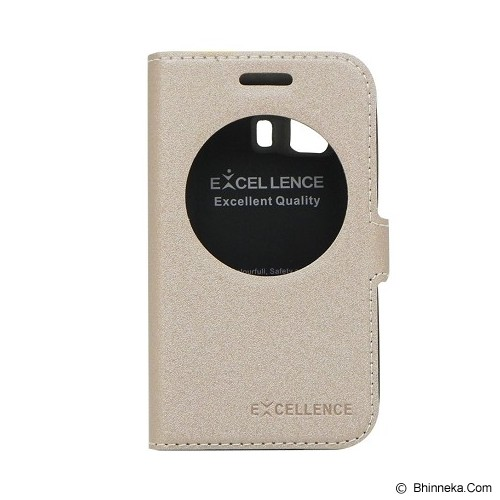EXCELLENCE Flip Cover Eternity for Samsung Galaxy Young 2 [ALCSAYD2FEVE] - Gold - Casing Handphone / Case
