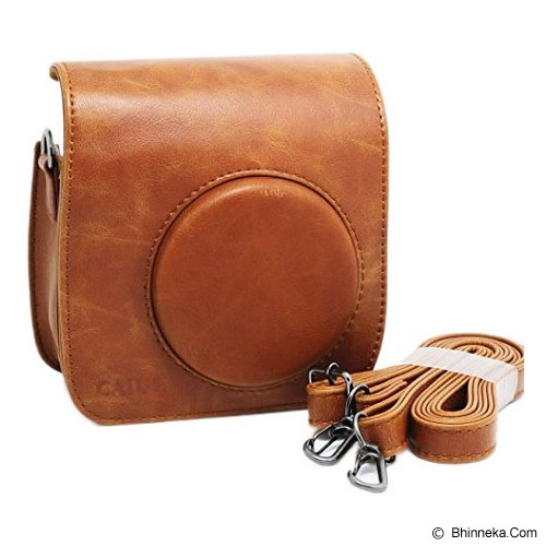CAIUL Instax Mini 8 Leather Bag - Brown - Camera Shoulder Bag