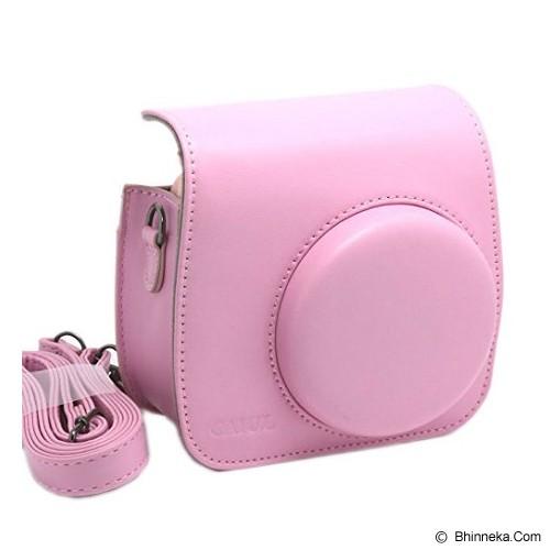 CAIUL Instax Mini 8 Leather Bag - Pink - Camera Shoulder Bag