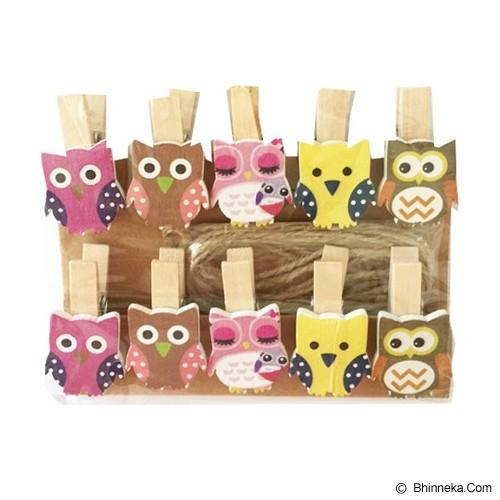 KLAUS Wooden Clip Owl - Photo Display / Frame
