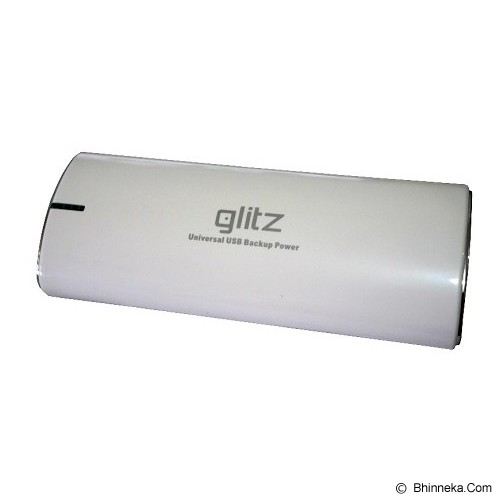 GLITZ Powerbank 30000mAh - White/Silver - Portable Charger / Power Bank