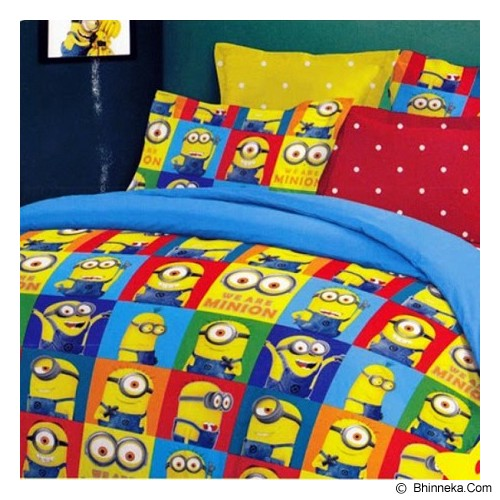 ELLENOV SPREI BAHAN KATUN Cartoon Minion Small Single Size - Seprai & Handuk