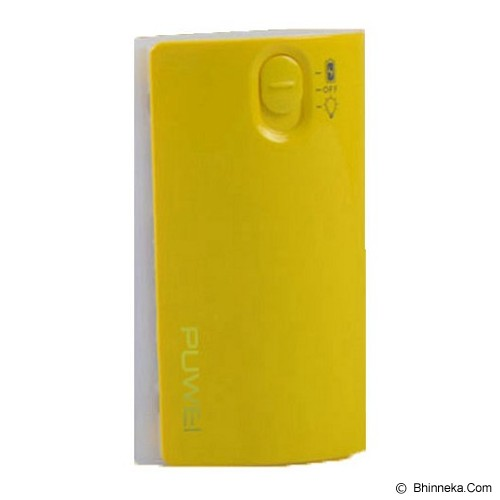 PUWEI Mobile Powerbank 5200mAh [EB-F8] - Yellow - Portable Charger / Power Bank
