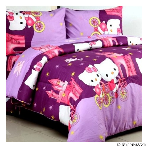 ELLENOV SPREI BAHAN KATUN Hello Kitty Extra Single Size - Purple - Seprai & Handuk