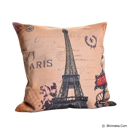 OLC Bantal Sofa Motif Paris Retro [Q3192] - Bantal Dekorasi