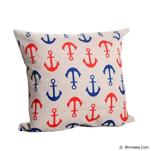 OLC Bantal Sofa Motif Anchor [Q862] - Blue&Red - Bantal Dekorasi
