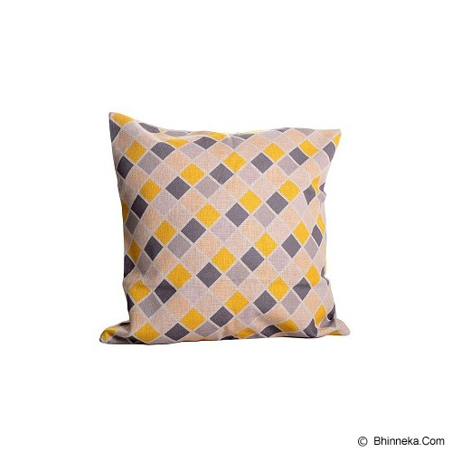 OLC Bantal Sofa Motif Grey Yellow Floor [Q2456] - Bantal Dekorasi