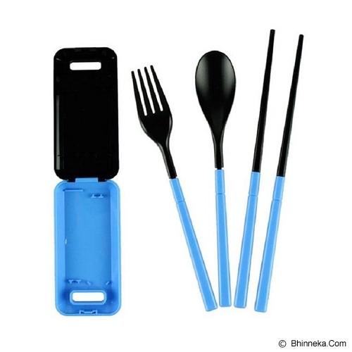 POP HOME Kotak Alat Makan Lipat [B128] -  Blue - Peralatan Makan Set