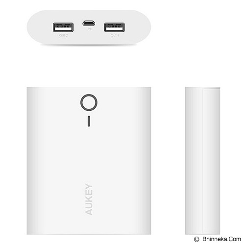 AUKEY Powerbank 10000mAh - White - Portable Charger / Power Bank