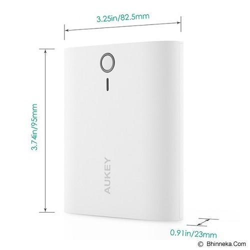 AUKEY Powerbank 10000mAh - White - Portable Charger / Power Bank