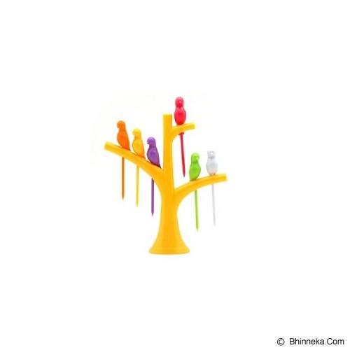 POP HOME Colorful Birdie Fruit Fork [B265] - Yellow - Garpu Makan
