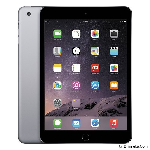 APPLE iPad mini 3 Retina Display Wifi + Cellular 128GB (Garansi Merchant) - Grey - Tablet Ios