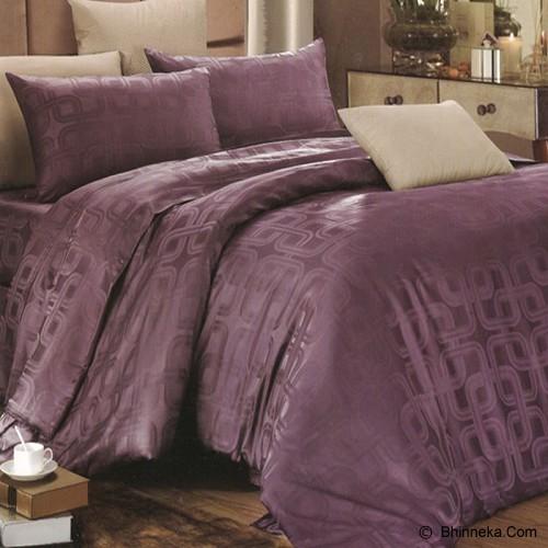 SLEEP BUDDY Extra King Size Bed Sheet Sutra - Square Deep Purple - Kasur