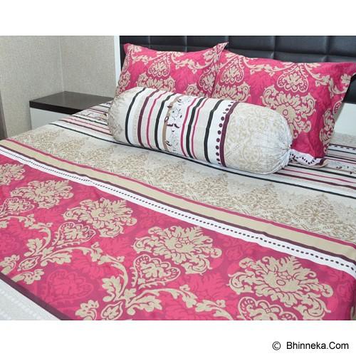 SLEEP BUDDY King Size Bed Sheet Katun Batik - Maroon - Kasur