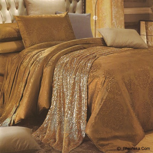 SLEEP BUDDY Queen Size Bed Sheet Sutra Tencel - Bronze - Kasur