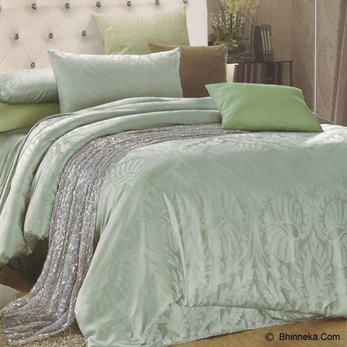 SLEEP BUDDY Queen Size Bed Sheet Sutra Tencel - Green Leaf - Kasur