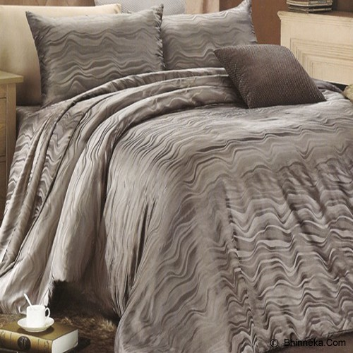 SLEEP BUDDY Queen Size Bed Sheet Sutra Tencel - Oceanic Dark Grey - Kasur