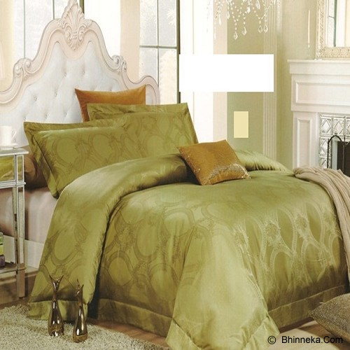 SLEEP BUDDY Queen Size Bed Sheet Sutra Tencel - Venice Green - Kasur
