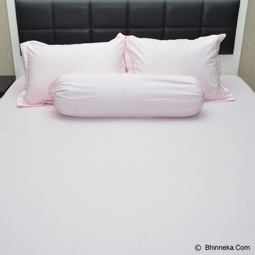 SLEEP BUDDY Single Size Bed Sheet Katun Plain - Baby Pink - Kasur