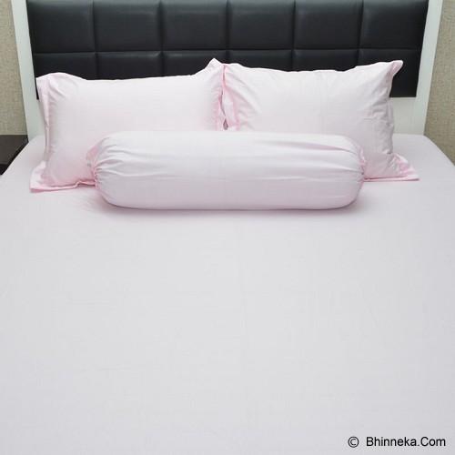 SLEEP BUDDY Single Size Bed Sheet Katun Plain - Baby Pink - Kasur
