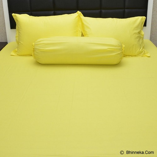 SLEEP BUDDY Single Size Bed Sheet Katun Plain - Yellow - Kasur