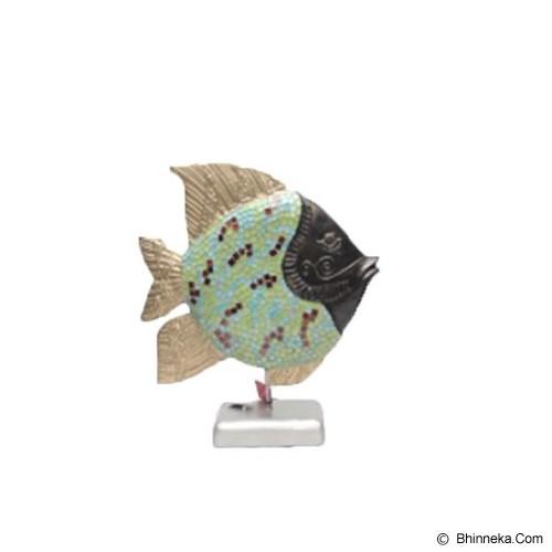 SMESCO TRADE Patung Ikan Mozaik Stik Berkepala [005c-044284] - Black - Pajangan Meja