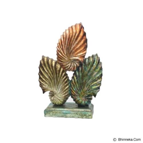 SMESCO TRADE Patung Tiga Kerang [005c-044370] - Gold Red Green - Pajangan Meja