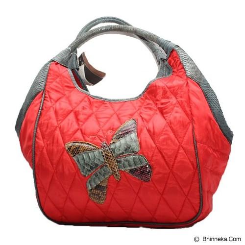 SMESCO Tas Tangan Motif Kupu-kupu [088-017985] - Merah - Tas Tangan Wanita