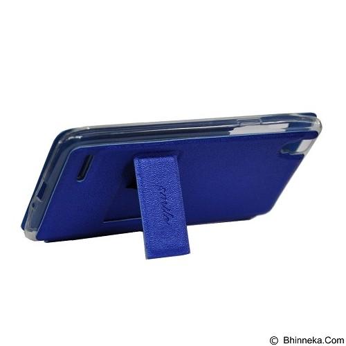 SMILE Flip Cover Case Asus Zenfone 5 - Dark Blue (Merchant) - Casing Handphone / Case