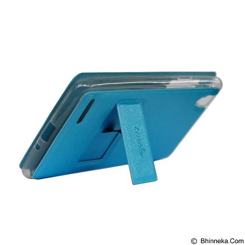SMILE Flip Cover Case Asus Zenfone 5 - Light Blue (Merchant) - Casing Handphone / Case