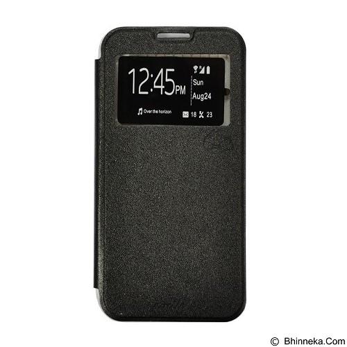 SMILE Flip Cover Case Lenovo A6000 / A6000 Plus - Black (Merchant) - Casing Handphone / Case