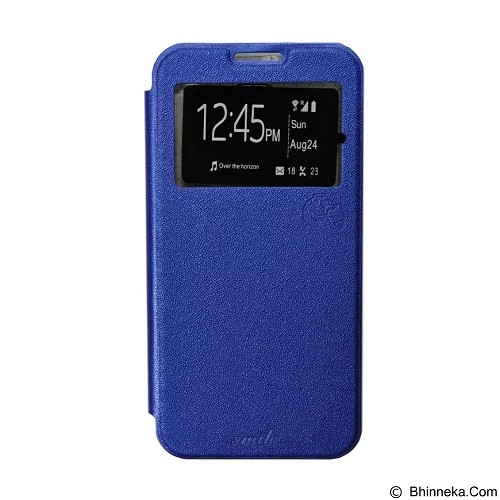 SMILE Flip Cover Case Lenovo A6000 / A6000 Plus - Dark Blue (Merchant) - Casing Handphone / Case