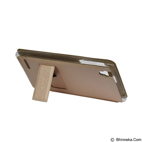 SMILE Flip Cover Case Lenovo A6000 / A6000 Plus - Gold (Merchant) - Casing Handphone / Case