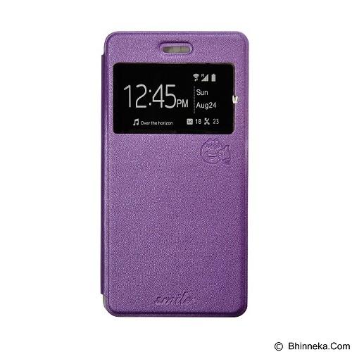 SMILE Flip Cover Case Oppo Joy - Purple (Merchant) - Casing Handphone / Case