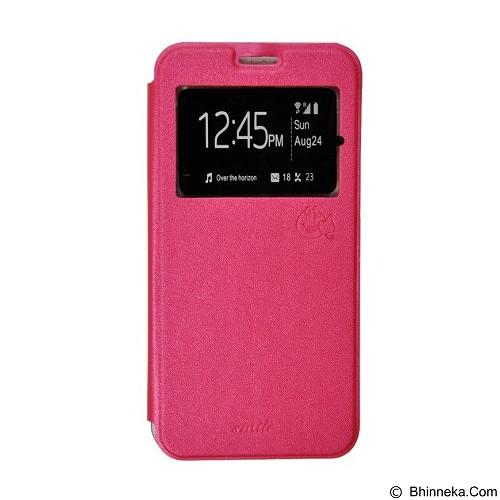 SMILE Flip Cover Case Samsung Galaxy Note 4 - Hot Pink (Merchant) - Casing Handphone / Case