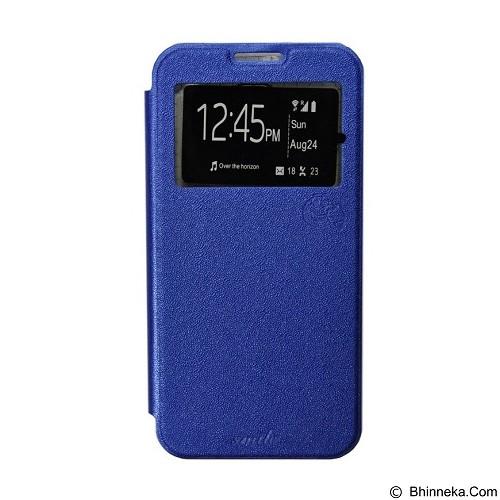 SMILE Flip Cover Case Sony Xperia E4 - Dark Blue (Merchant) - Casing Handphone / Case