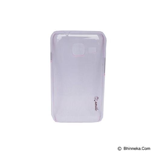 SMILE Hard Case Crystal Samsung Galaxy J1 Mini/J105 - Pink Light (Merchant) - Casing Handphone / Case
