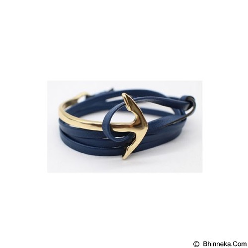 SOHO Curved Anchor - Blue Gold (Merchant) - Gelang / Bracelet