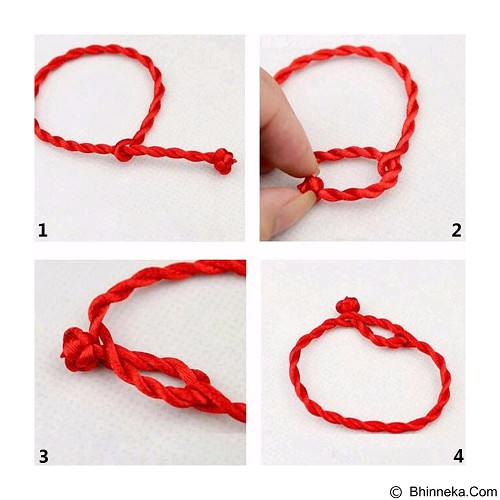 SOHO Gelang Couple Lucky String 2pcs - Red (Merchant) - Gelang / Bracelet