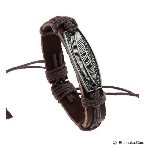 SOHO Gelang Kulit Motif Bulu (Merchant) - Gelang / Bracelet