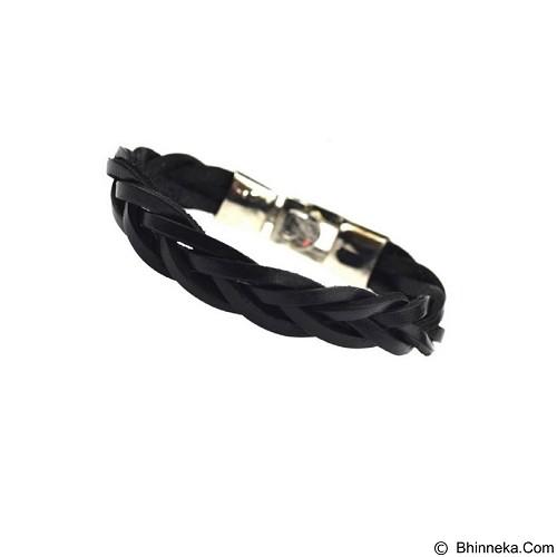 SOHO Gelang Kulit [P0539] - Black - Gelang Pria