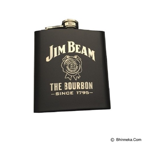 SOHO Hip Flask 8oz - Jim Beam Black - Botol Minum