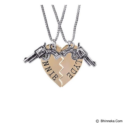 SOHO Kalung Couple Bonnie Clyde - Gold (Merchant) - Kalung / Necklace