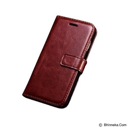 SOHO Leather Flip Cover Card Slots Money Slot for iPhone 6 - Brown (Merchant) - Casing Handphone / Case