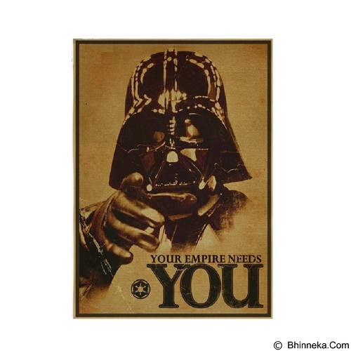 SOHO Poster Retro Vintage Star Wars - Wall Art / Hiasan Dinding