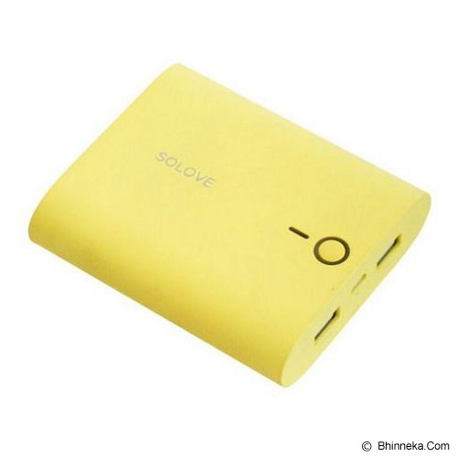 SOLOVE Powerbank 10000mAh [F1] - Yellow - Portable Charger / Power Bank