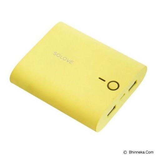SOLOVE Powerbank 10000mAh [F1] - Yellow - Portable Charger / Power Bank